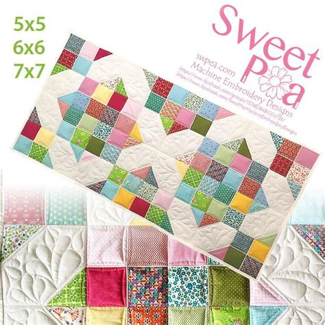 Quilt In The Hoop by Quilts And Quilting In The Hoop Sweet Pea