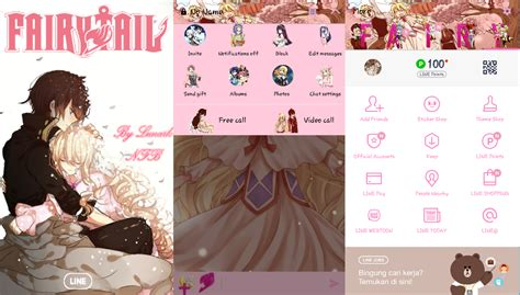 tema line android anime kumpulan tema theme line anime fairy tail di android