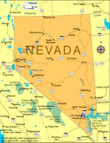 california nevada map with cities map of nevada state printable