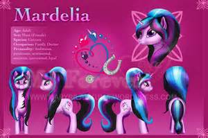 my little pony mardelia s character reference sheet d