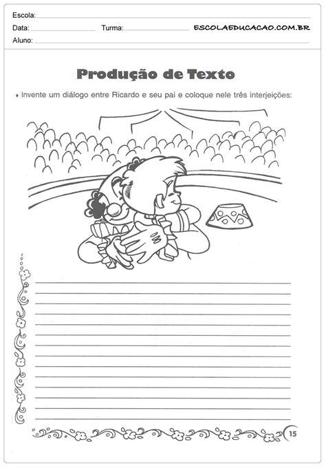 Atividade Dia dos Pais - Produção de texto - Escola Educação