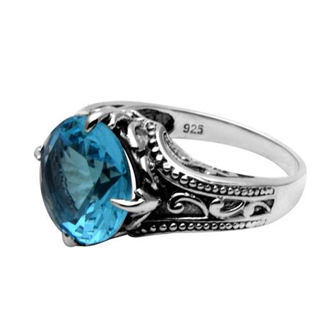 925 sterling silver ring fashion sapphire ring