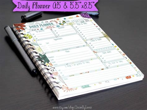 diy planner pages 55 best images about half size printables on daily printable printable planner and