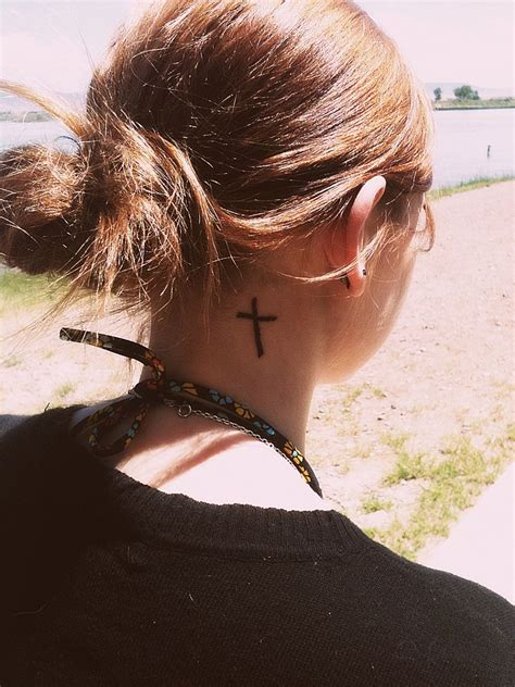 neck tattoo cross cross tattoos designs ideas and meaning tattoos for you