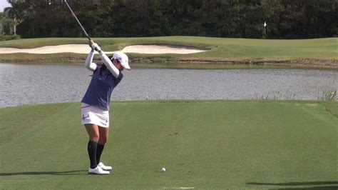slow motion golf swing down the line golf swing 2012 ai miyazato down the line slow