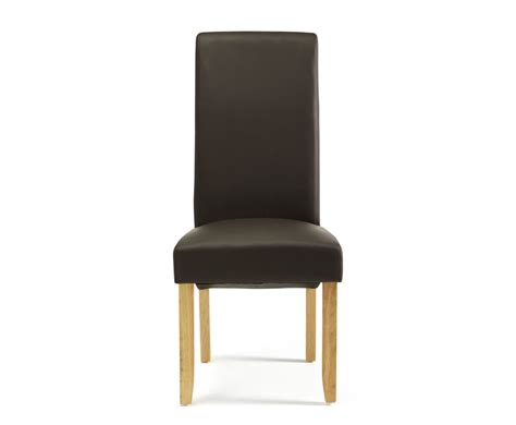 Dining Chairs Faux Leather Cascade Brown Faux Leather And Oak Dining Chairs Frances Hunt