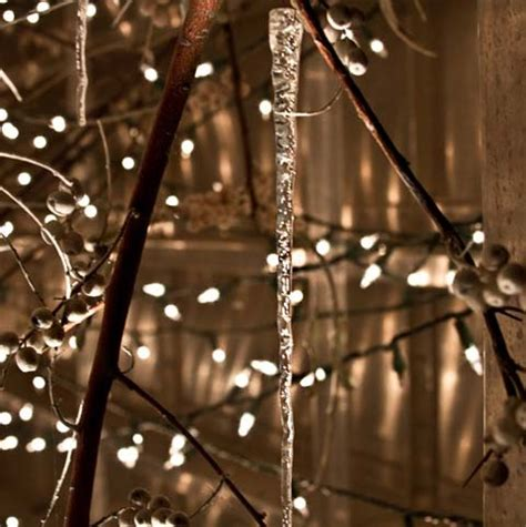 glass icicles frosted elegance holiday decor