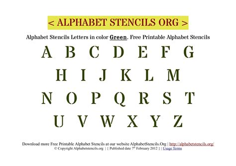 printable letter stencils a4 a4 printable letters alphabet stencils green printable