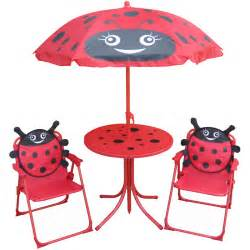 folding table set patio set umbrella and chair