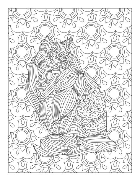catological coloring book for cat 50 unique