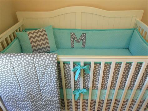 Grey And Turquoise Crib Bedding Modern Gray And Aqua Crib Bedding Baby Rusk Chevron Polka Dots And Future Baby