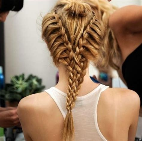 Hairstyles Braids Cool | cool braid for summer amazing v shaped twin braids
