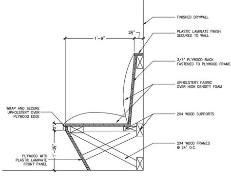 Banquette Section by Dimensions Of Banquette Seating Studio Design