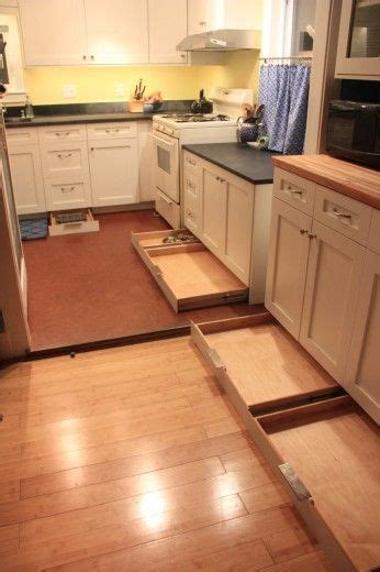 toe kick under kitchen cabinets toe kick drawers awesome idea for the unused space under