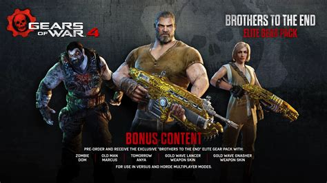 One All Series Bonus gears of war 4 pre order now available gears