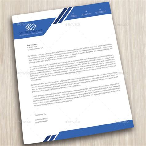 Business Letter Stationery Template company letterhead business corporate letter format