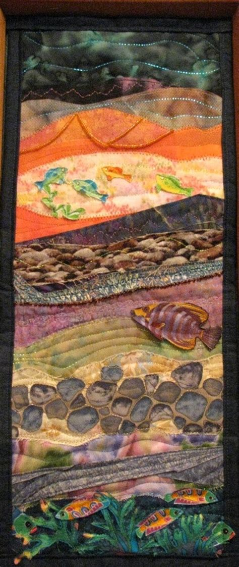Seascape Quilts by 247 Best Quilts Beachscape Images On