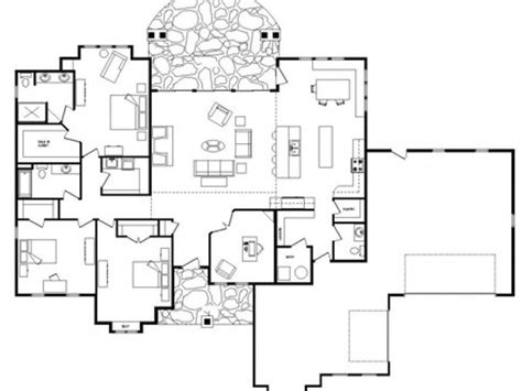 luxury one level house plans luxury single story open