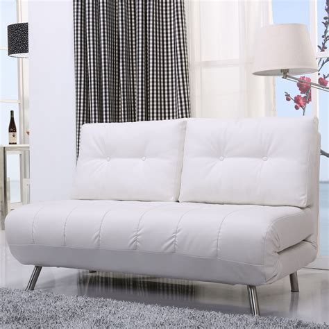mid century best white leather loveseat sleeper sofa with