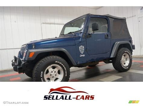 2000 Jeep Patriot 2000 Patriot Blue Pearl Jeep Wrangler Sport 4x4 105750056