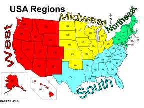 us map broken by regions united states of america thinglink
