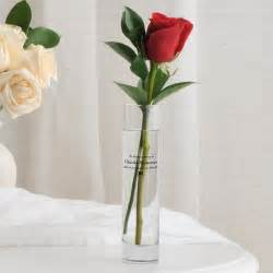 personalized memorial bud vase
