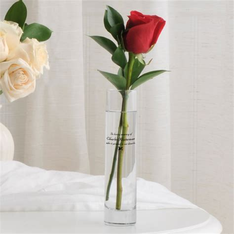 Personalised Memorial Vases by Personalized Memorial Bud Vase