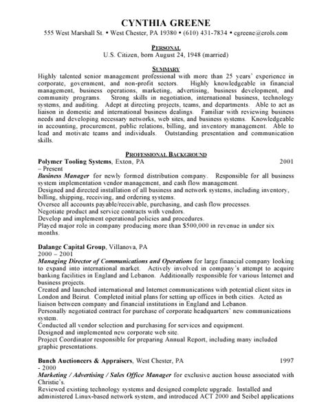 business manager resume international business cv international business business management