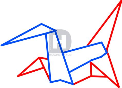 origami drawings how to draw origami origami crane step by step drawing