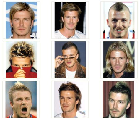 hairstyles through the years david beckham hairstyles spiky messy mohican