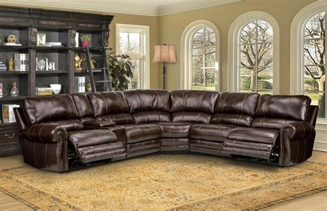 Genuine Leather Sectional Sofa by Thurston Modular Genuine Leather Sectional Sofa W