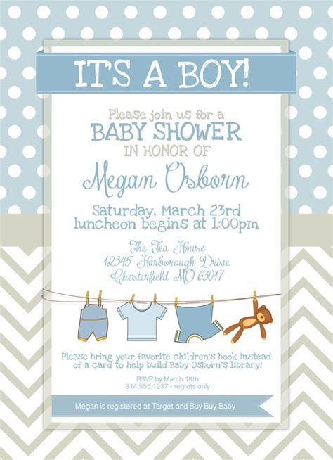 Baby Shower Invitations Printable Templates by Free Printable Baby Shower Invitations For Boys Template
