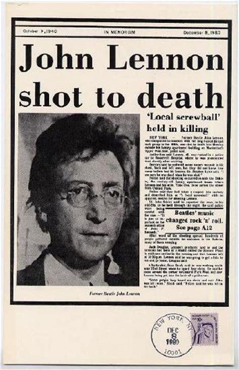 John Lennon Death Biography   johnlennon concertphotography co uk