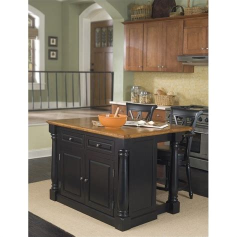 kitchen island and bar stools 3 piece set 5008 94 88 3pc pkg