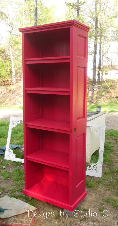How To Build A Bookcase Using An Old Door How To Build A Bookcase With Doors