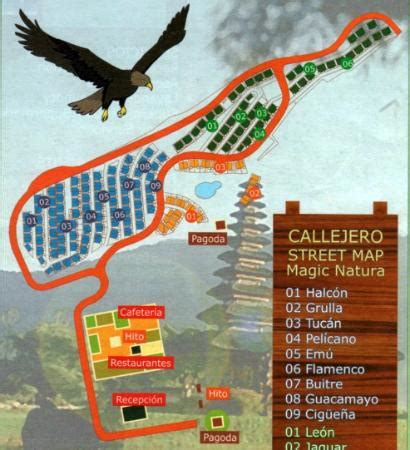 map showing bungalow layout picture of magic natura