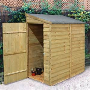 forest 6x3 overlap wall shed