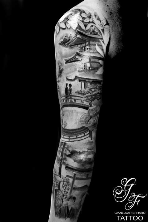 oriental mountain tattoo and another great piece by gianluca ferraro tattoo
