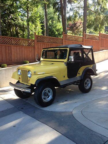 cj jeep yellow buy new 1966 jeep cj5 tuxedo park yellow with black soft