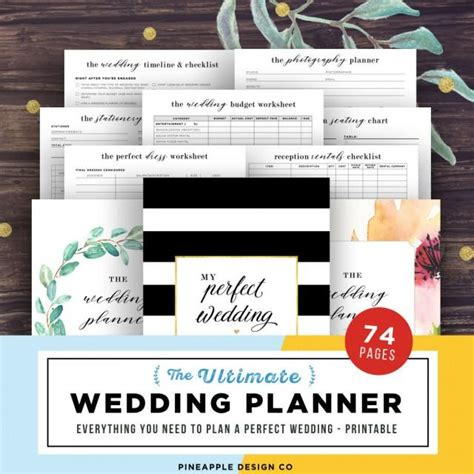 wedding planner printable wedding planning book wedding