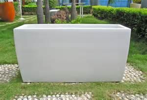 panama 36 inch rectangular fiberglass garden planter many