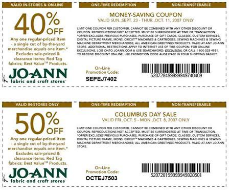 printable joann fabric coupons 2012 joann fabrics printable coupons and coupon codes 2016