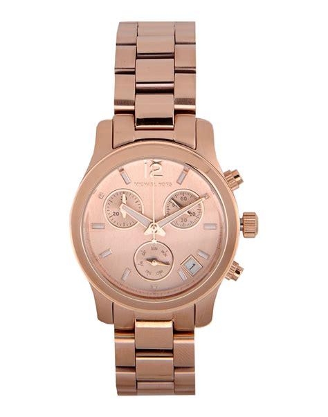 michael kors watch michael kors wrist watch in pink copper lyst
