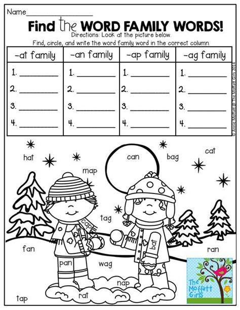 word families worksheets for 2nd grade at word family worksheets printables word family