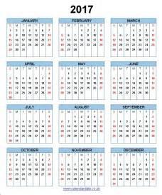 Calendario 2017 España 2017 Calendar Uk