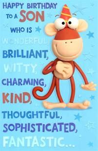 Congratulations On New Job Card Cute Wonderful Son Happy Birthday Greeting Card Cards Love Kates