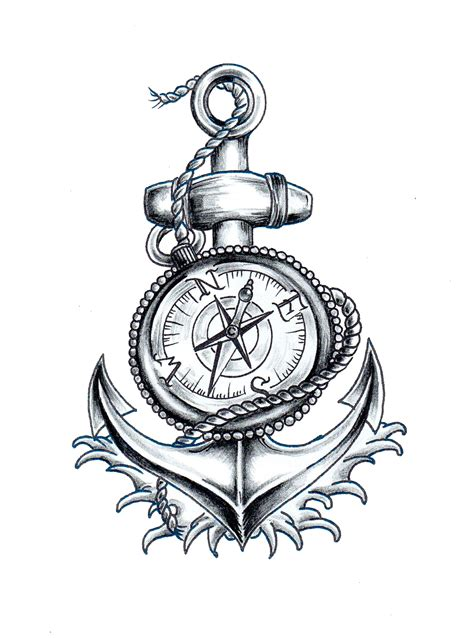 anchor and compass tattoo nautical compass and anchor