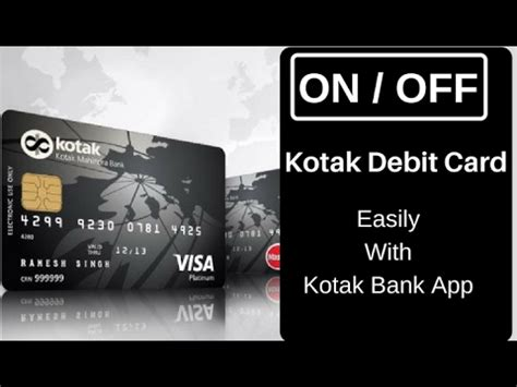 make debit card kotak debit card ko activate deactivate kare easily
