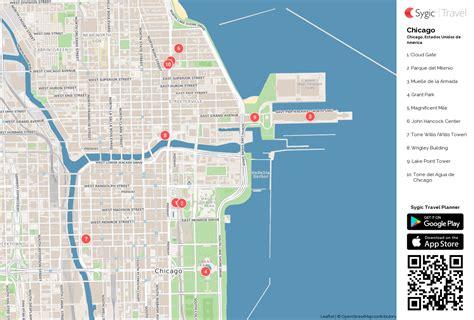 chicago mapa chicago mapa tur 237 stico para imprimir sygic travel