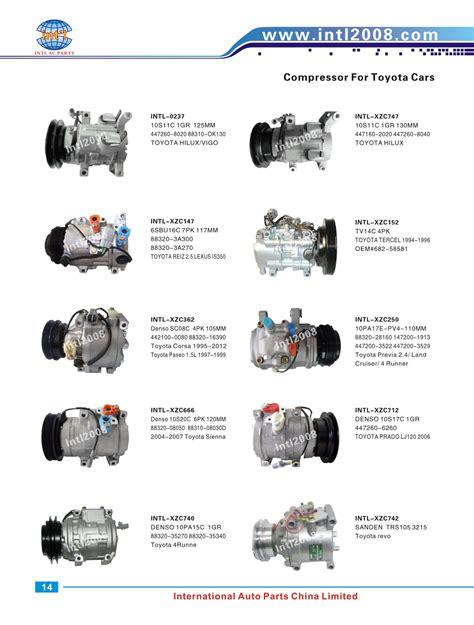 auto air conditioning service 2000 toyota echo user handbook manufacturer denso scsa06c scs06 toyota echo l4 1 5l 1497cc 2000 2003 auto ac air compressor